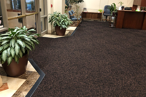 Walk off mats installed by GP Flooring Solutions